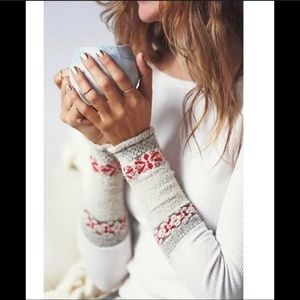 Free People Rosey Cuff Thermal White M
